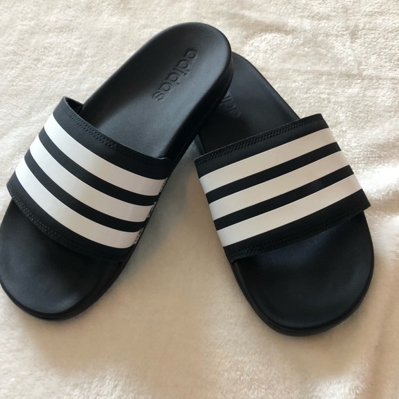 b9e1a5148 adidas Shoes - Adidas 3 stripe slide sandals